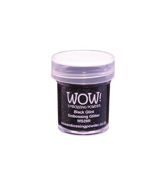 Embossing powder Wow black glint regular