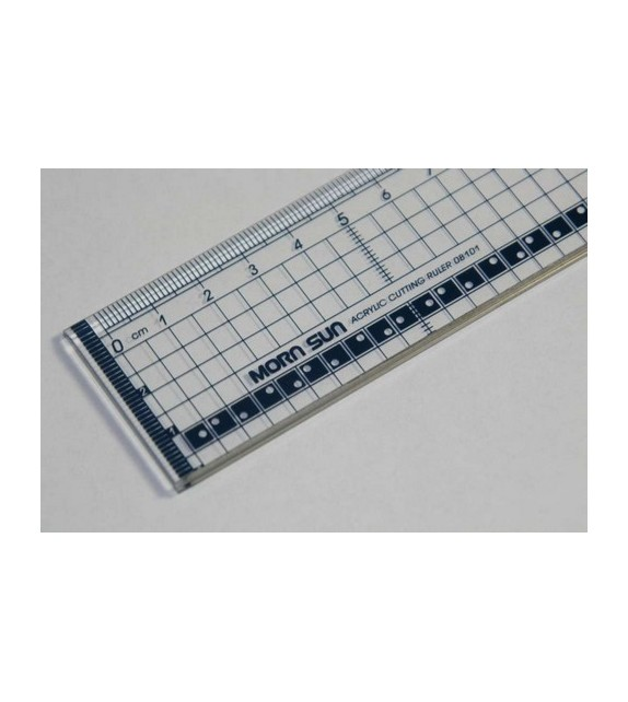 Ruler transparant 30cm with metal edge
