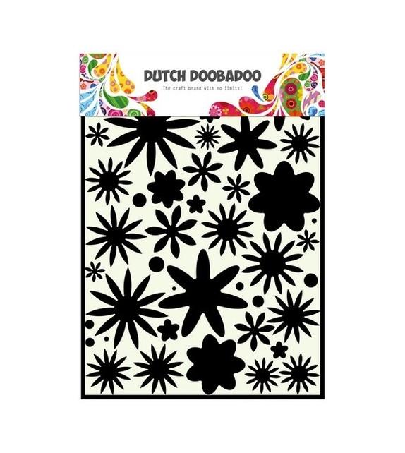 Dutch Doobadoo Dutch Mask Art stencil flower power 1 A4