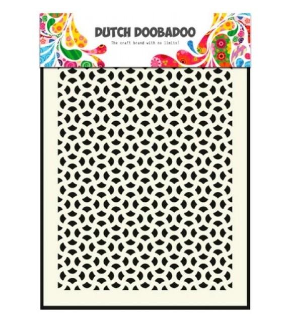 Dutch Doobadoo Dutch Mask Art stencil Snow 15x15CM