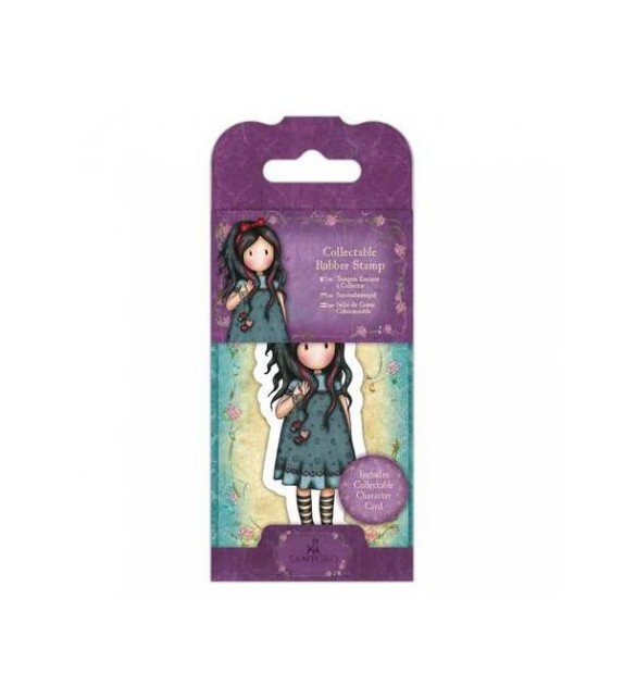 Gorjuss Collectable Mini Rubber Stamp No. 22 Pulling On Your Heart Strings