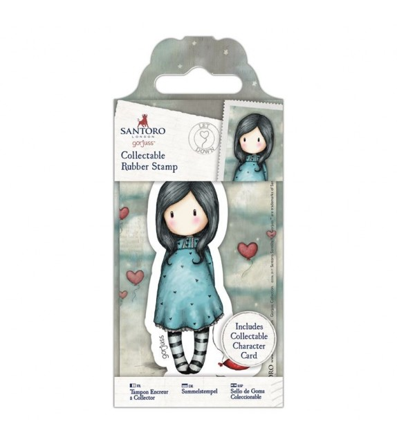 Gorjuss Collectable Mini Rubber Stamp No. 60 Let Down