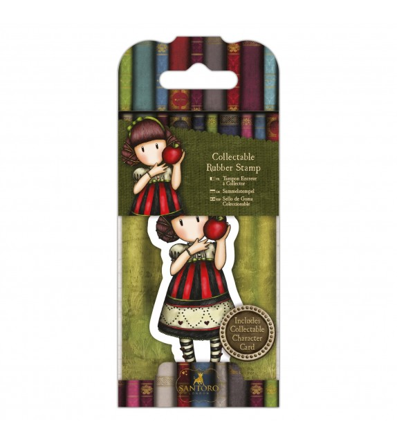 Gorjuss Collectable Mini Rubber Stamp No. 37 Dear Apple