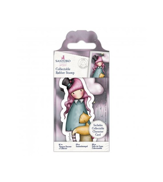 Gorjuss Collectable Mini Rubber Stamp No. 58 The Dreamer