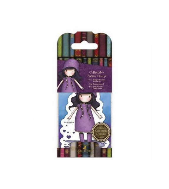 Gorjuss Collectable Mini Rubber Stamp No. 36 Rainy Daze