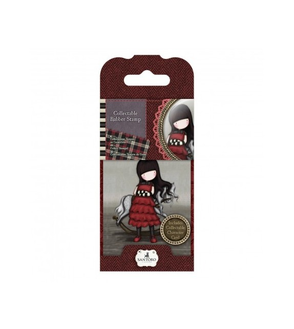 Gorjuss Collectable Mini Rubber Stamp No. 20 The Getaway V1