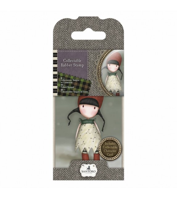Gorjuss Collectable Mini Rubber Stamp No. 19 Holly