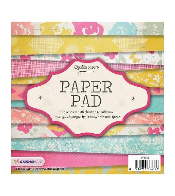 Studio Light Paper pad 36 sheets 12 designs nr 65