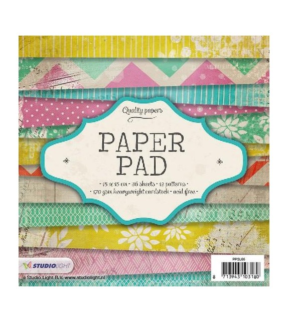 Studio Light Paper pad 36 sheets 12 designs nr 66