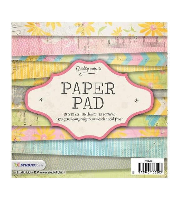 Studio Light Paper pad 36 sheets 12 designs nr 68