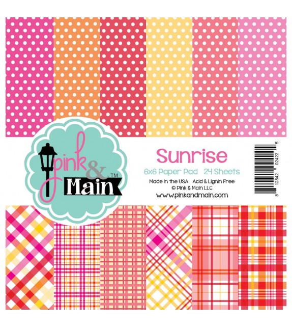 "Pink & Main Double-Sided Paper Pad 6""X6"" 24/Pkg"