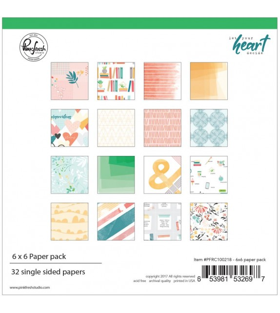 Pinkfresh Studio Double-Sided Paper Pack  Let Your Heart Decide