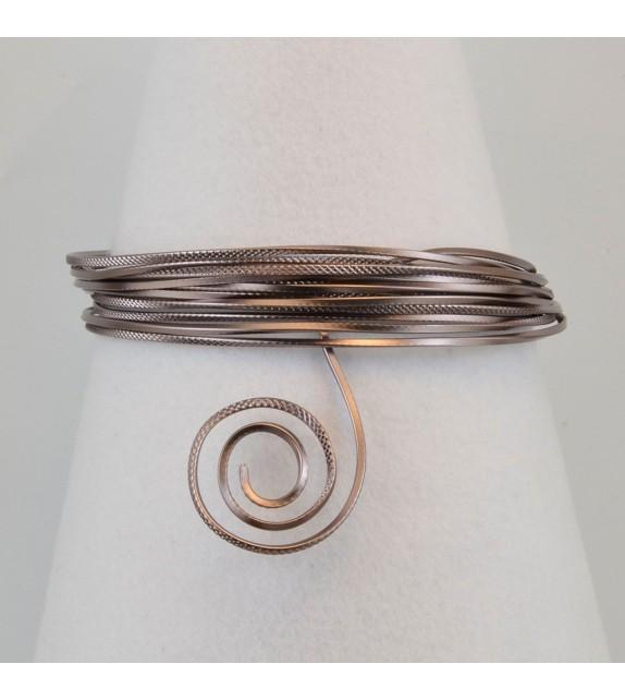 Aluminium wire triangle embossed 2,8mmx5m