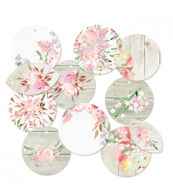 "Decoration Tags ""Love in bloom 01"" by P13, 11pcs"
