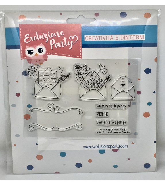 """Clear Stamps """"Letterine"""""""