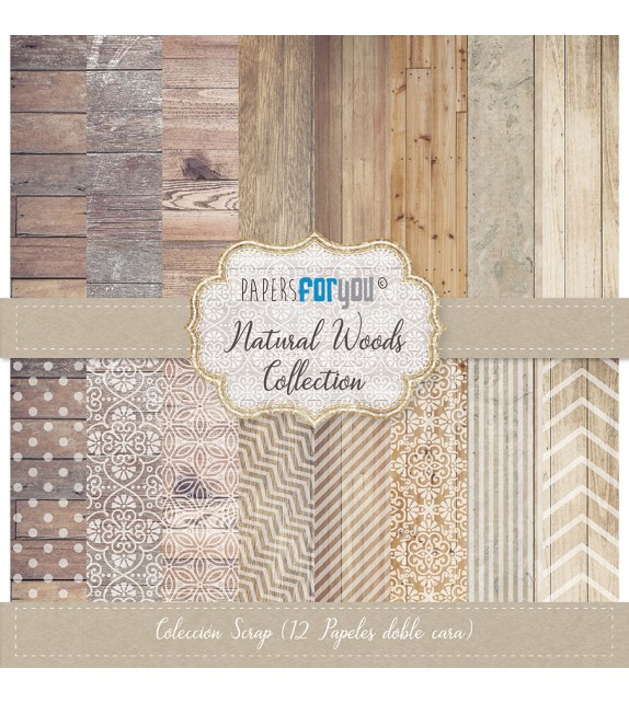 "NATURAL WOODS COLECCION 12X12"" - PAPERSFORYOU"
