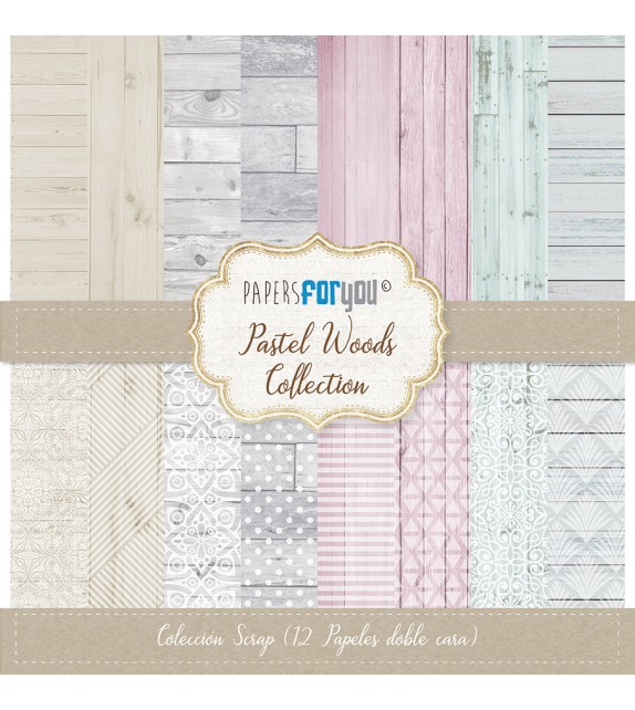 """PASTEL WOODS COLECCION 12X12"""" - PAPERSFORYOU"""