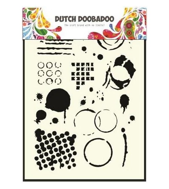 Dutch Doobadoo Dutch Mask Art stencil Geometric Tiles