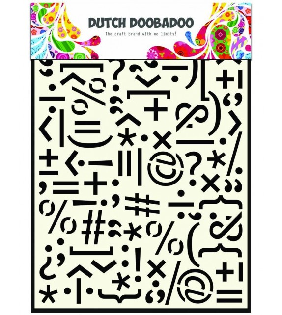 Dutch Doobadoo Dutch Mask Art stencil Punctuation-marks