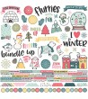 SIMPLE STORIES - COMBO STICKERS 12X12 FREEZIN' SEASON