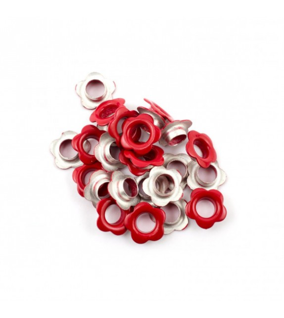 Eyelets flower red a 25 st.