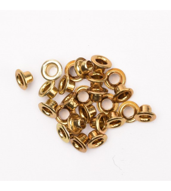 Eyelets x25 metallic brass