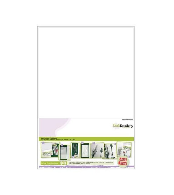 CraftEmotions EasyConnect (double sided adhesive) Craft sheets A4 - 5 sheets