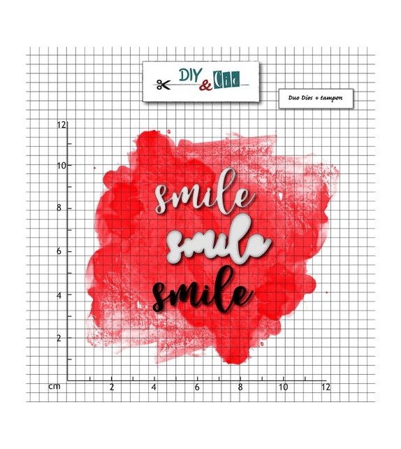 SET FUSTELLE + TIMBRO SMILE BY DIY & CIE