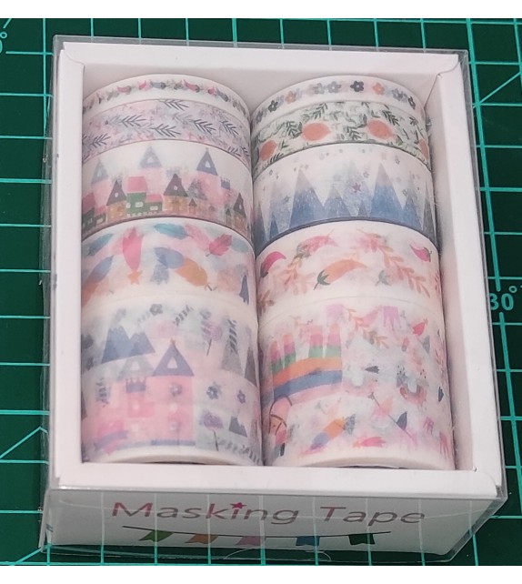 "WASHI TAPE SET DA 10 PZ ""TH0069"""
