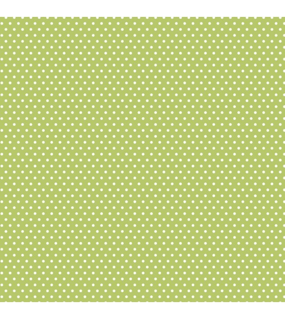 "Patterned single-sided ""LIGHT GREEN SMALL DOT"""