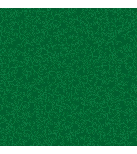 "Patterned single-sided ""DARK GREEN VINE"""