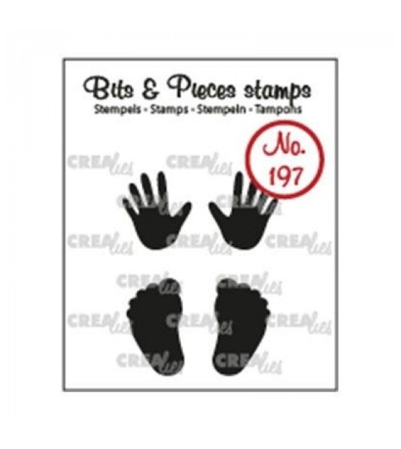 Crealies Clearstamp Bits&Pieces Baby hands + feet
