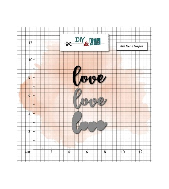 SET FUSTELLE + TIMBRO LOVE BY DIY & CIE