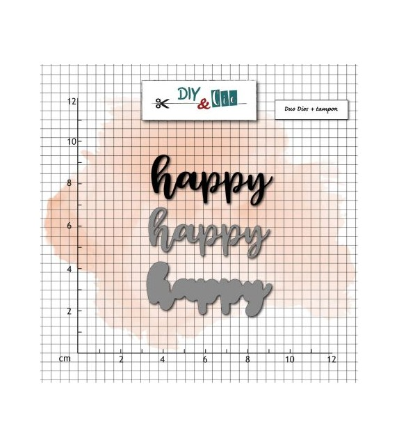SET FUSTELLE + TIMBRO HAPPY BY DIY & CIE