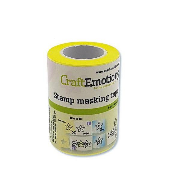 CraftEmotions stamp masking tape 6 cm - 10 meter