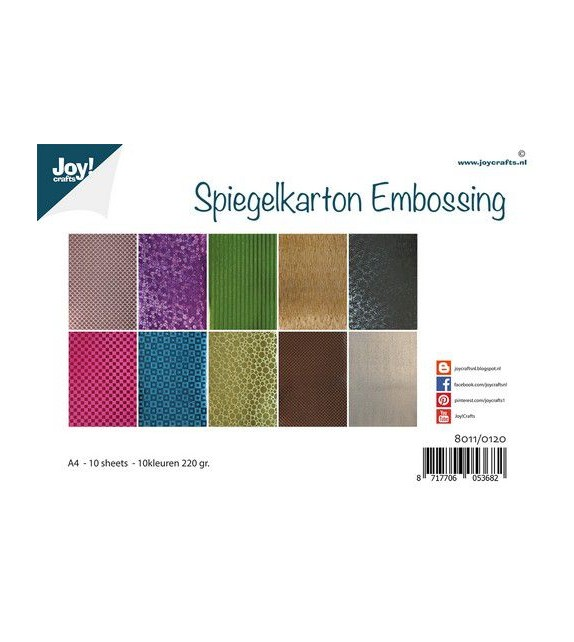 Joy! Crafts Mirrorcarton Embossing 10sh