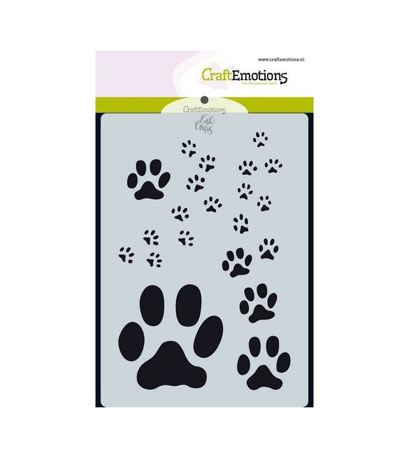 CraftEmotions Mask stencil Odey & Friends - paw print