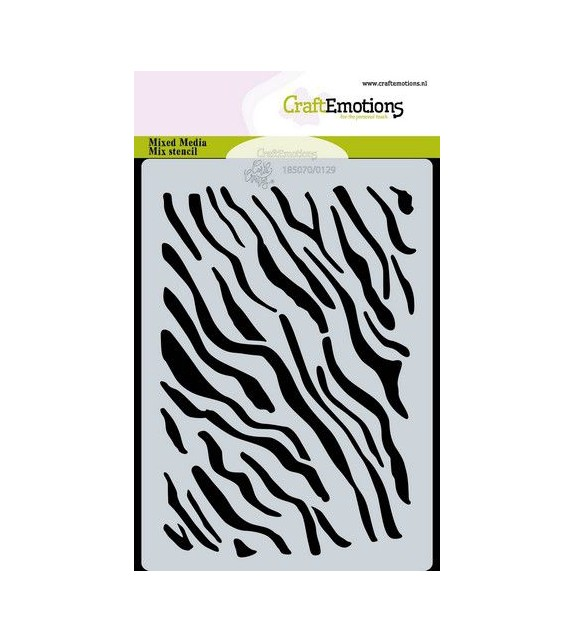 CraftEmotions Mask stencil tiger-zebra print