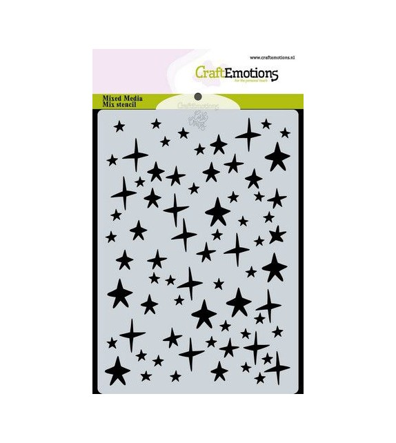 CraftEmotions Mask stencil stars sky