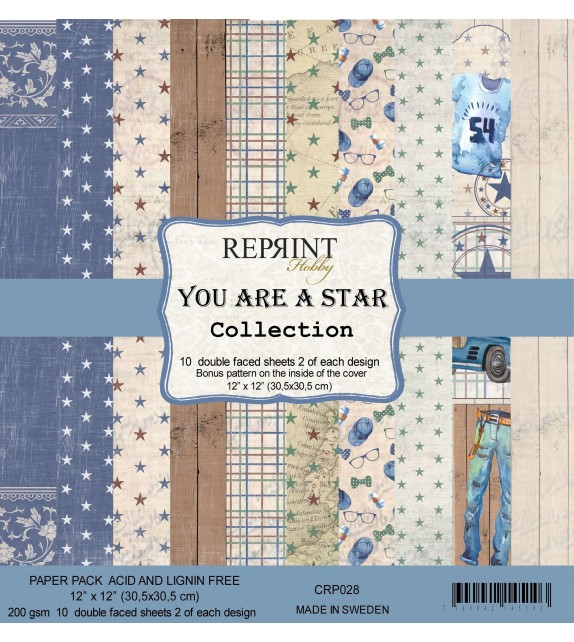 Reprint You are a Star Collection 12x12 Inch Paper Pack