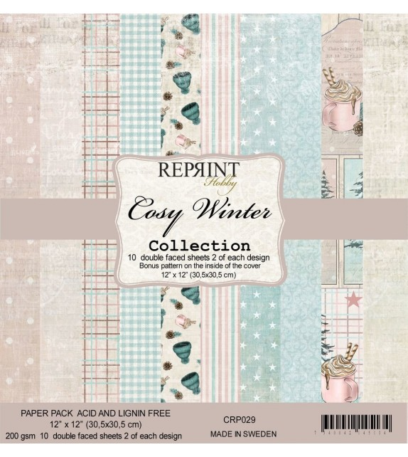Reprint Cozy Winter Collection 12x12 Inch Paper pack