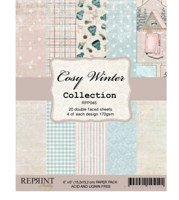 Reprint Cozy Winter Collection 6x6 Inch Paper Pack