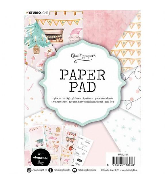 Studio Light • Paper pad 14,8x21cm Elements nr.154