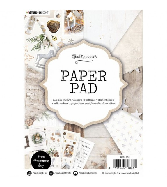 Studio Light • Paper pad 14,8x21cm Elements nr.151