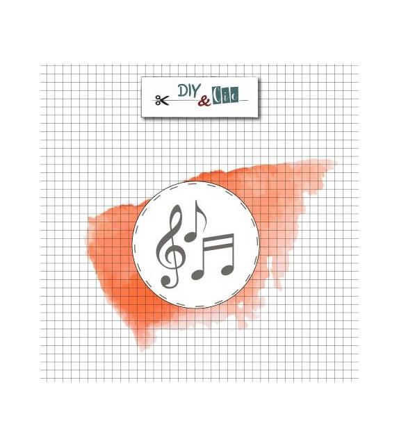 Timbro sigillo ceralacca - NOTE MUSICALI