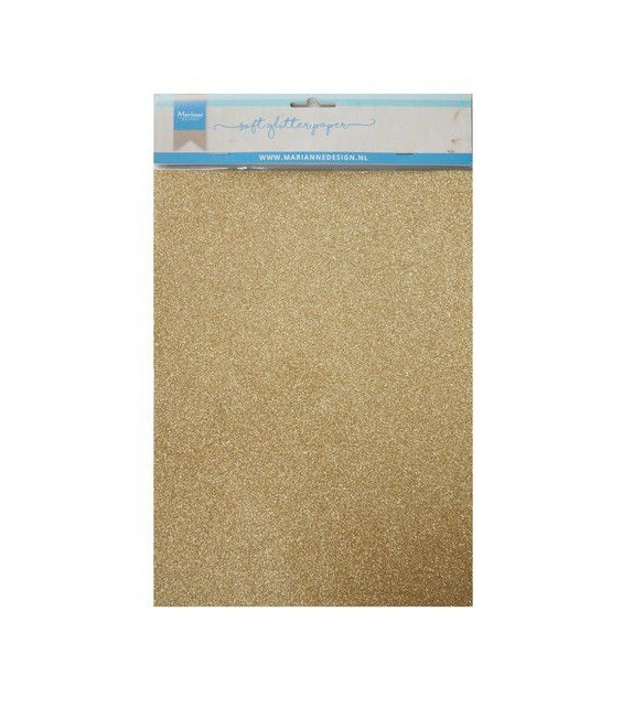 Marianne D Decoration Soft Glitter paper 5sh - Gold