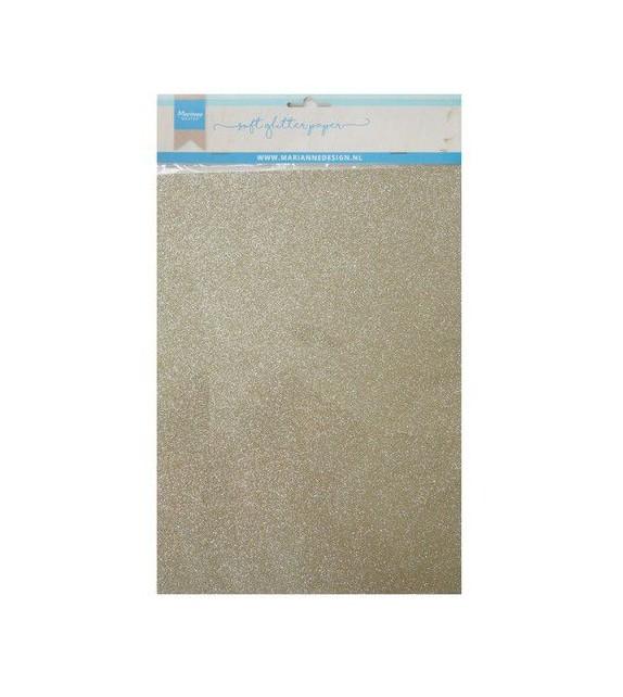 Marianne D Decoration Soft Glitter paper 5sh - Platino