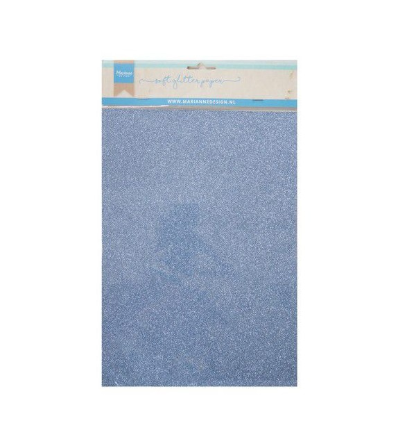 Marianne D Decoration Soft Glitter paper 5sh - Blu