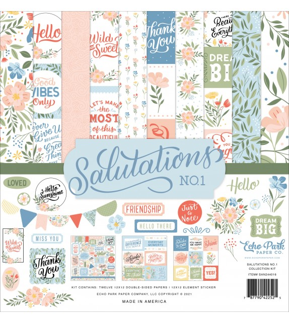 Echo Park Salutations No.1 Collection Kit
