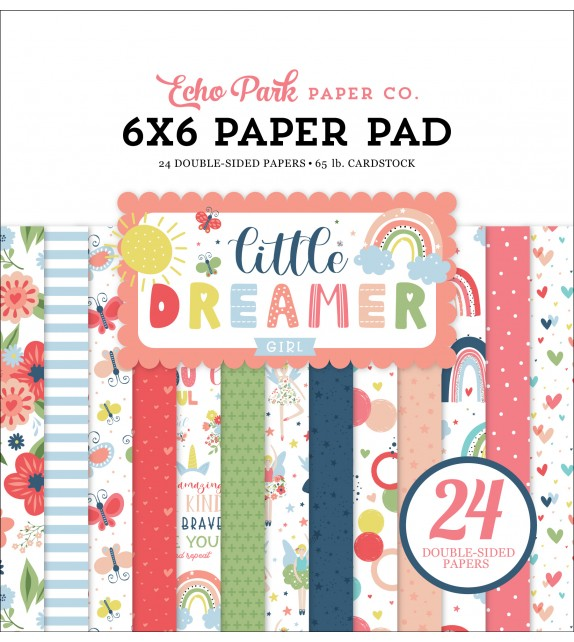 Echo Park Little Dreamer Girl 6x6 Inch Paper Pad